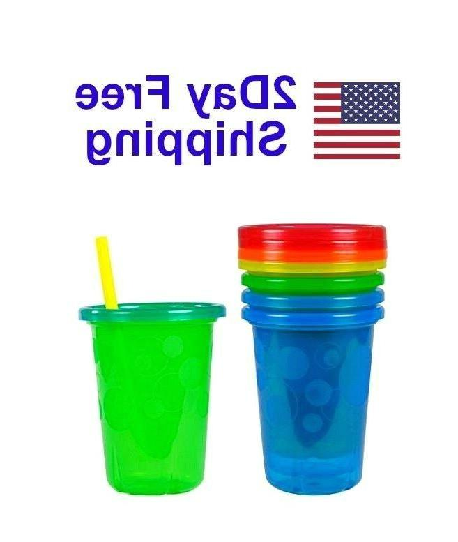 Spill Straw Cups with Snap Lids Toddler Mugs 10