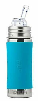 Pura Kiki 11 Oz / 325 Ml Steel Bottle With Silicone Straw &