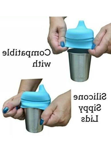 Stainless Steel Cups Kids Toddlers Oz Sippy Outdoor BPA Free