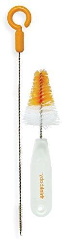 thinkbaby Straw and Nipple Brush Set, Orange