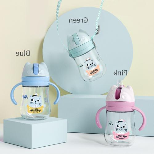 US Baby Cup Feeding Drinking Water Bottle Sippy 300ml