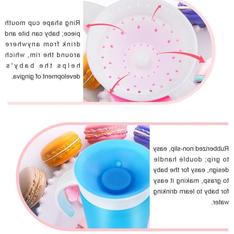 Toddler Kids Cup Degree Leakproof Proof Training Cup