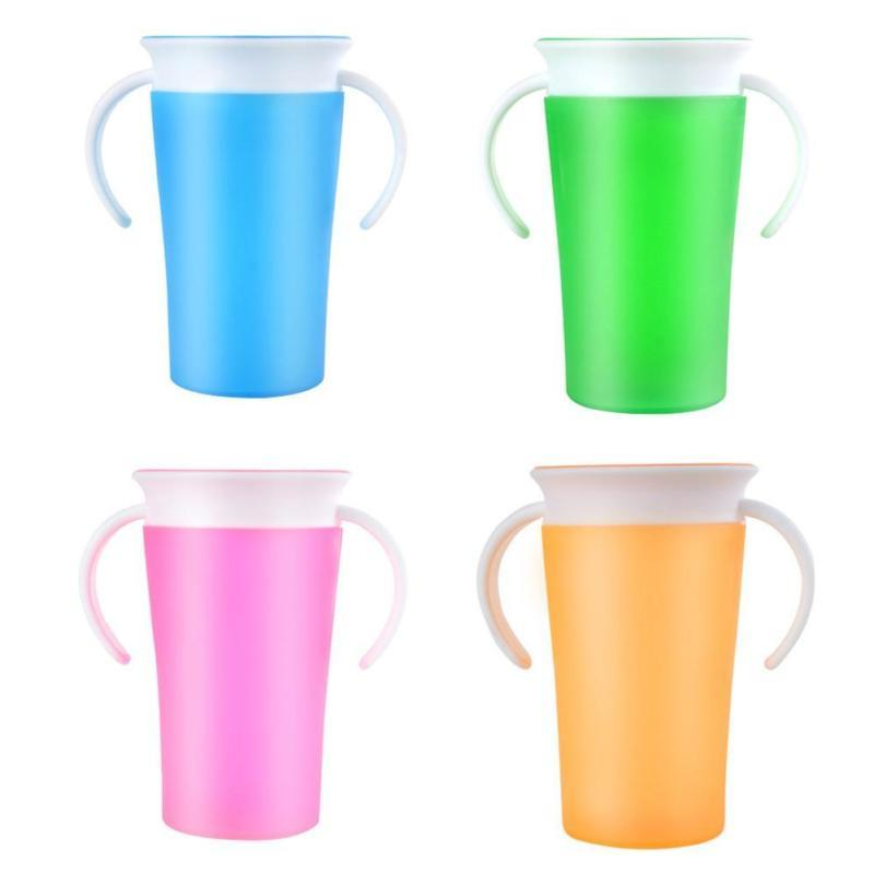 908a18f4224 Toddler Kids Baby Sippy Cup 360 Degree Magic