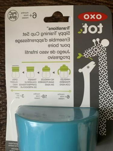 OXO Tot® 6 oz. Transitions Soft Spout Sippy Cup Set in Teal