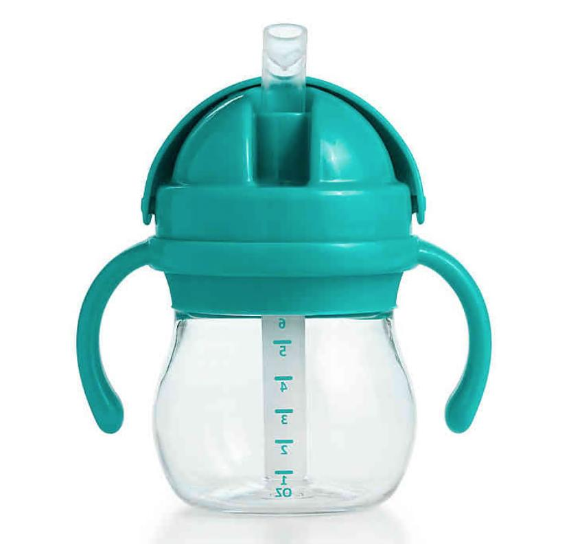transitions straw cup with handles 6 oz