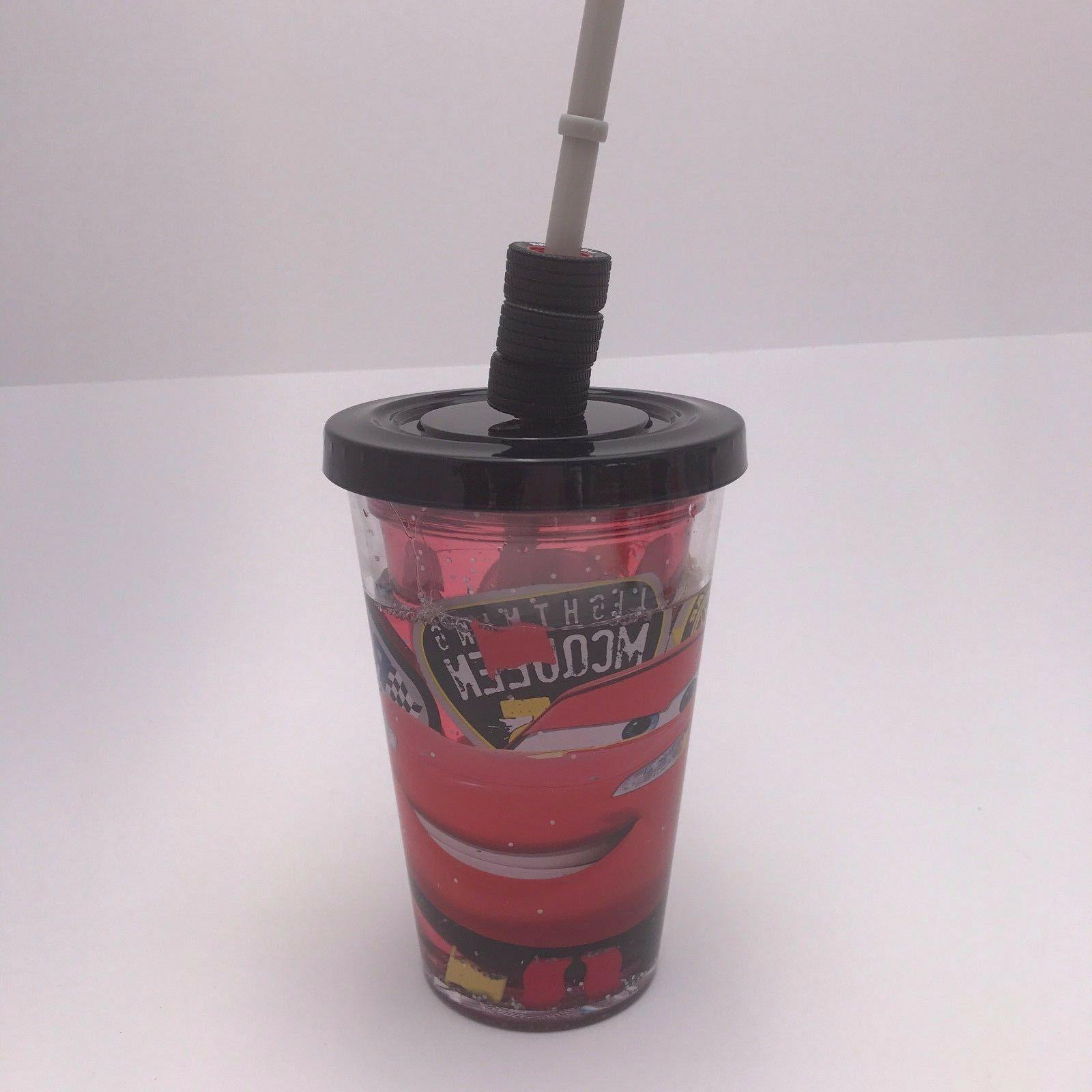 tumbler sippy cup lightning mcqueen cars glitter