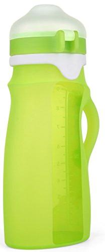VESCO Baby Silicone Reusable Baby Sippy Cup and Pouch - Fold