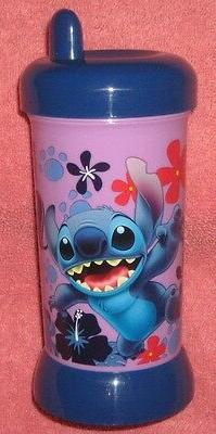 Disney Store We Love STITCH. Sippy Cup. Brand New. 6 inches
