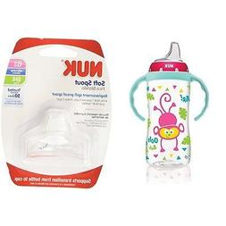 Nuk Large Learner Cup Jungle Designs Pattern 10-Oz Sippy Bab