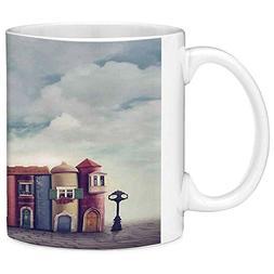Lead Free Ceramic Coffee Mug Tea Cup White Fantasy Decor 11