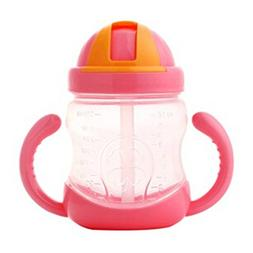 Leakproof Trainer Cup Silicon Sippy Cups BPA FREE ,red