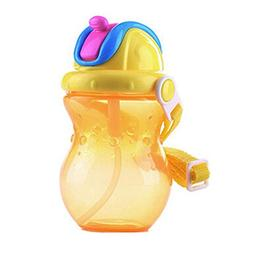 Leakproof Trainer Cup Silicon Sippy Cups BPA FREE ,yellow
