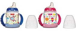 NUK Learner Cup Silicone Bundle Pack, Pink/Blue, 5 Ounce, 2