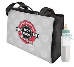 Logo & Tag Line Diaper Bag - Front & Back