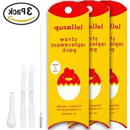 Lollaland Lollacup Straw Replacement Kit -  - Includes 6 Str