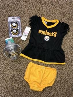 Lot Baby Girl Pittsburgh Steelers NFL Dress 6-12 Months Terv
