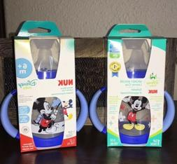 Lot of 2 NUK Disney Baby Learner Sippy Cups Mickey Mouse 5oz