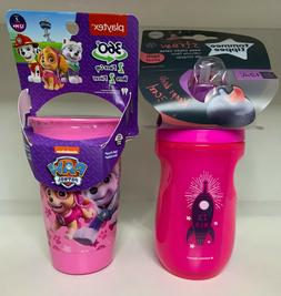 Lot of 2 Sippy Cups, Playtex Paw Patrol, Tommee Tippee Insul