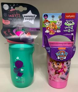 Lot of 2 Sippy Cups, Playtex Pink Paw Patrol, Tommee Tippee
