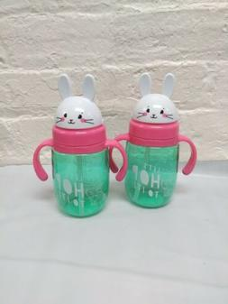 "Lot of 3 Happy Go Fluffy Sippy Cups "" With My Peeps"""