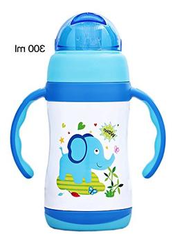 Lovely Cartoon Vacuum Insulated Stainless Steel Sippy Cup wi