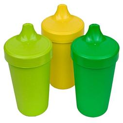 Re-Play Made in The USA 3pk Toddler Feeding No Spill Sippy C