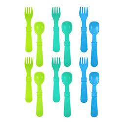 Re-Play Made In USA 12pk Utensils for Easy Baby, Toddler, Ch