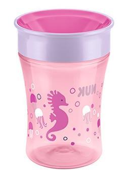NUK Magic 360° 250ml Cup 8mths+ Pink Seahorse