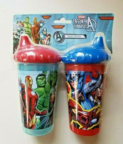 Marvel Avengers Assemble 10oz Sippy Cup Set Of 2 Spill Proof