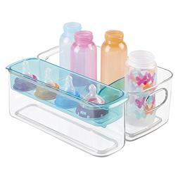 mDesign Baby Mealtime Adjustable Storage Organizer for Bottl