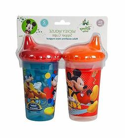 Disney Mickey Mouse Clubhouse Slim Sippy Cups, Red/Blue, 2 C