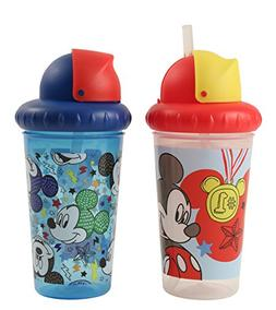 Disney Mickey Mouse 2 Piece Pop Up Straw Infants Sippy Cup