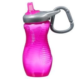 Munchkin 12 Ounce Mighty Grip Toddler Sports Bottle, Pink