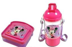 Minnie Bowtique Water Bottle Canteen and Sandwich Container