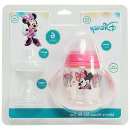 Disney Minnie Mouse 6 Piece Grow with Me Sippy Cup NEW!