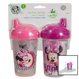 Disney Minnie Mouse Clubhouse Sippy Cups Pink/Gray 2 Count