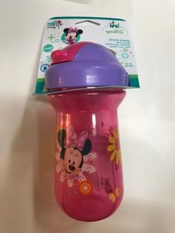 Disney MINNIE MOUSE Pink Straw Sippy Cup 10 oz *NEW* The Fir