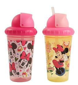 Disney Minnie Mouse 2 Piece Pop Up Straw Infants Sippy Cup