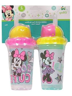 Disney Minnie Mouse 2 Piece Pop Up Straw Infants Sippy Cup,