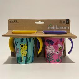 Munchkin Miracle 360 2 pack 6oz Cup Purple - Yellow Animal W