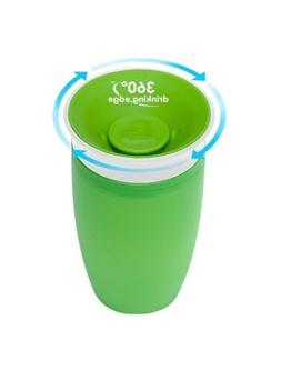 Munchkin Miracle 360 BPA Free Sippy Cup 10 ounce 3 Count Gre