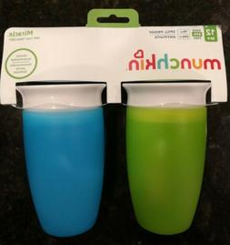 Munchkin Miracle 360 Sippy Cup Green & Blue 10 Oz 2 Count