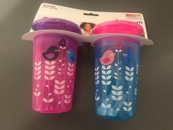 Munchkin Miracle 360 sippy cups 12+ months 9 oz  set of 2  d
