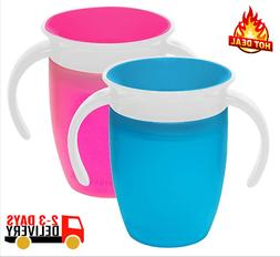 Munchkin Miracle 360 Trainer Cup, Pink/Blue, 7 Ounce, 2 Coun