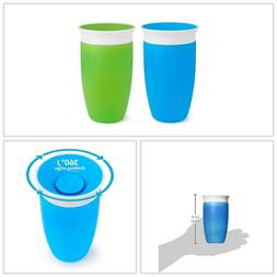 Miracle Sippy Cup Green Blue 360 Degree 10 Ounce 2 Count BPA