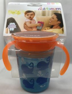 Munchkin Miracle WHALES 360 sippy cup. FREE SHIPPING!