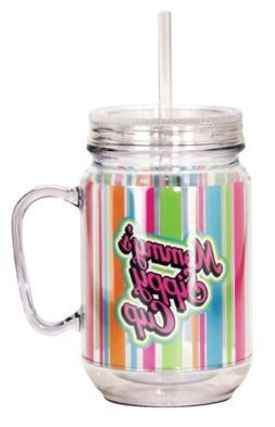 Spoontiques Mommy's Sippy Cup Mason Jar, Multi Colored