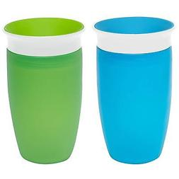 Munchkin Miracle 360 Sippy Cup, Green/Blue, 10 Ounce, 2 Coun