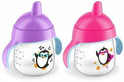 Philips Avent My Penguin Sippy Cup 9 oz, rosa y púrpura, 2