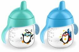 Philips Avent My Penguin Sippy Cup 9oz, Blue and Green, 2pk,